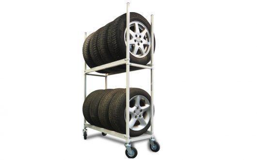 Reifenwagen Reifenregal fahrbar, Rollwagen für Reifen