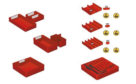 Schubladenschränke -Einteilungsmaterial