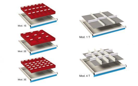 Schubladenschränke einteilungsmaterial