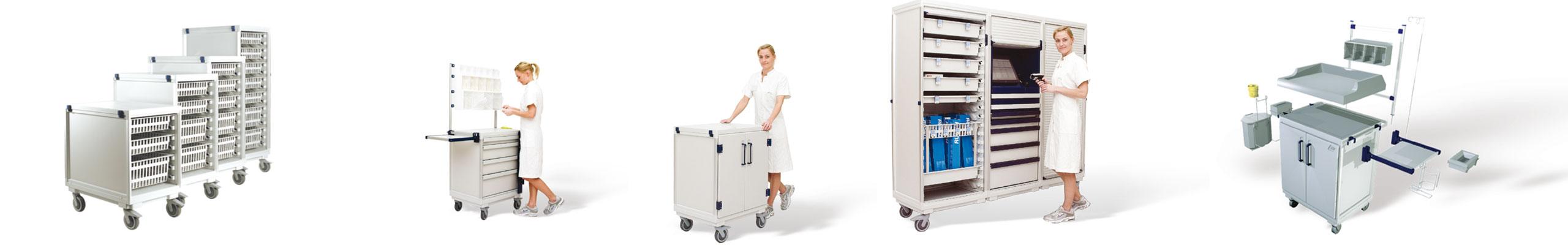 Pflegewagen ISO-Modulsystem